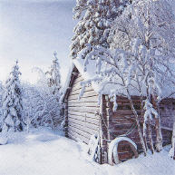 Servietten Winter Cabin