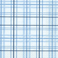 Servietten Scottish Check Blau