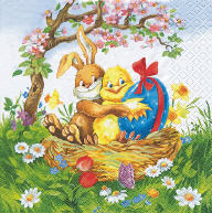 Servietten Ostern Easter Friends