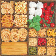 Servietten World of Pasta