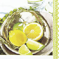 Servietten Citrus & Lime