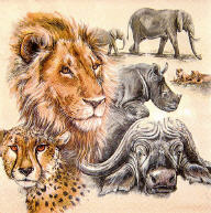 Servietten The Big Five