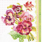 Servietten Painted Pansy