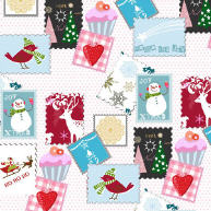 Servietten Winter Stamps